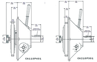 CA Series Dimensions