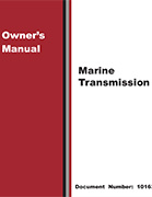 Marine Transmission Owner's Manual