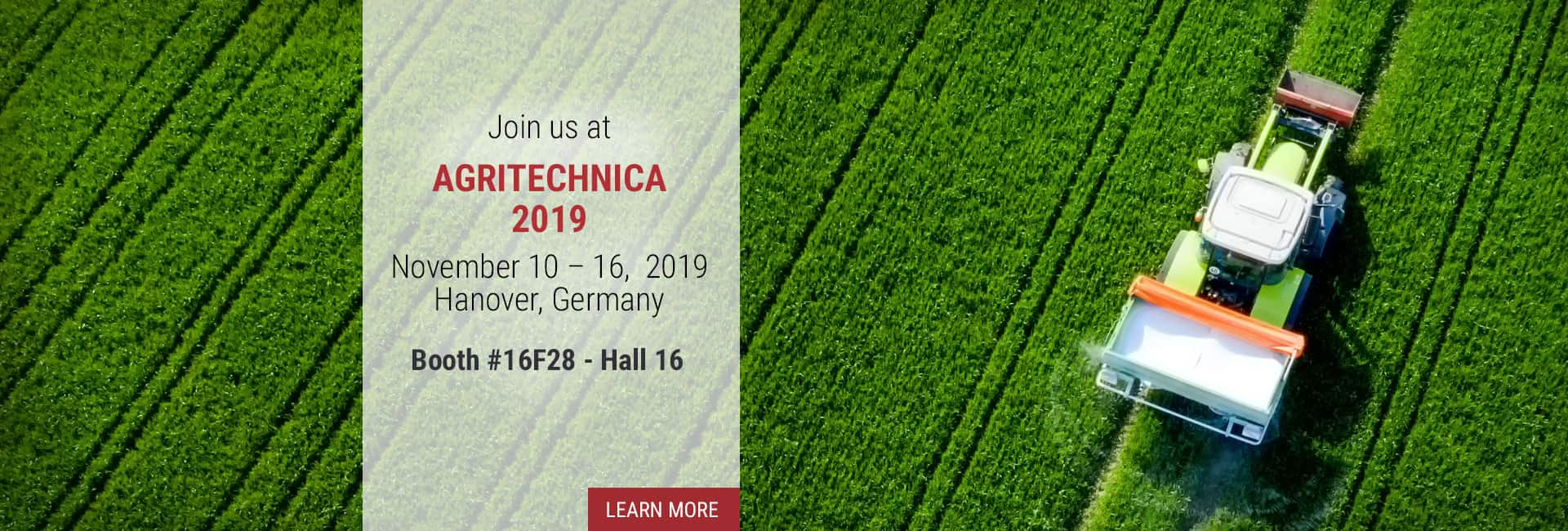 Join us at Agritechnica 2019